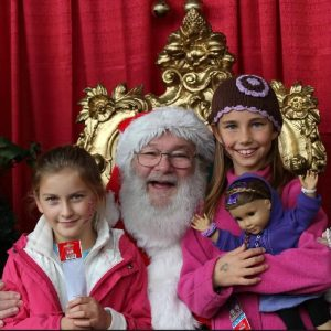 Santa and two girls