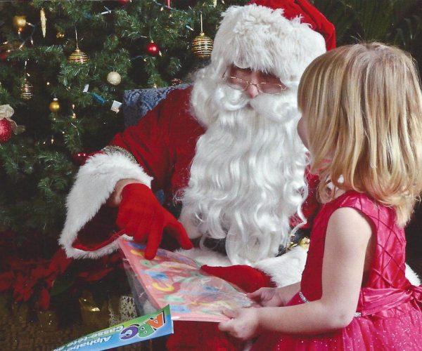 Santa teaching alphabet